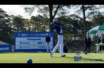 【男子ゴルフ】@中澤大樹、B・ケネディ、星野陸也、のスタートホールティショット!第86回 関西オープンゴルフ選手権 1st Round