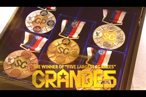 ボートレースで最高峰のレースであるSG。その中でも最も権威のある5つのSGレースを優勝したレーサーが授与される称号が『GRANDE5』です。いまだ達成したレーサーはおらず、初めてこの称号に輝いたグランドスラマーには「3億円相当のインゴット」が贈呈されます。<br /> <br /> ボートレーサーを称える称号は他にも「ゴールデンレーサー」があります。SG・GⅠレースで優勝戦まで勝ち進んだレーサーが授与されるメダルを規定枚数集めたトップオブトップのレーサーのみが表彰されます。2020年12月15日時点で「ゴールデンレーサー」を名乗れるのは、わずか7名。<br /> <br /> ※『GRANDE5』対象レース:グランプリ、クラシック、オールスター、メモリアル、ダービー
