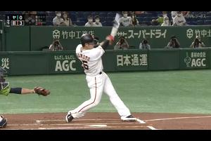 9/12【巨人vsヤクルト】1回裏 1発で仕留めた岡本!20号本塁打で巨人が3点先制