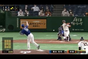 9/26【巨人vs中日】7回裏 試合終盤、中島の2点タイムリーで巨人が同点に追いつく