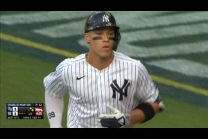 【MLB】3回裏 ジャッジの犠牲フライで同点に 10/8 ヤンキースvs.レイズ