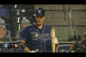【MLB】6回表 筒香嘉智 第4打席はセカンドライナー 10/8 ヤンキースvs.レイズ