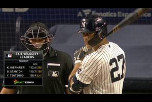 【MLB】8回裏 スタントンの5試合連続のホームラン!! 10/8 ヤンキースvs.レイズ