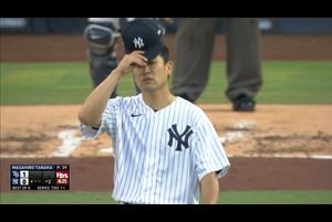 【MLB】3回表 田中将大 この回は無失点 10/8 ヤンキースvs.レイズ