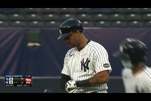 【MLB】5回裏 ヒックスのタイムリーツーベースヒット 10/8 ヤンキースvs.レイズ