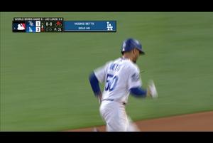 【MLB】8回裏 ベッツのソロホームラン!! 10/28 ドジャースvs.レイズ