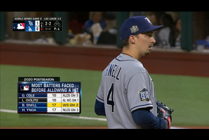 【MLB】1回裏 三者三振の支配的な立ち上がりを見せるスネル 10/28 ドジャースvs.レイズ