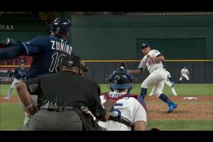 【MLB】7回表 ピンチを終わらせるゴンザレスのスーパーキャッチ!! 10/21 ドジャースvs.レイズ