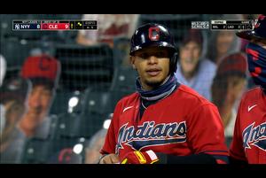 【MLB】8回裏 ヘルナンデスの勝ち越しタイムリーヒット 10/1 インディアンスvs.ヤンキース