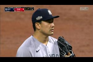 【MLB】3回裏 田中将大 先頭に四球も後続を抑える 10/1 インディアンスvs.ヤンキース