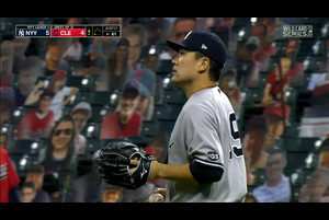 【MLB】4回裏 田中将大 この回は三者凡退に抑える 10/1 インディアンスvs.ヤンキース