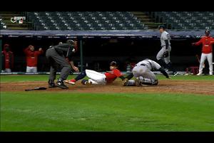 【MLB】5回裏 ラミレスの2点タイムリーツーベースで同点に 10/1 インディアンスvs.ヤンキース