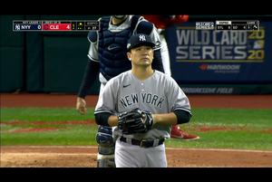 【MLB】1回裏 田中将大 雨天中断を挟み4点を失う 10/1 インディアンスvs.ヤンキース
