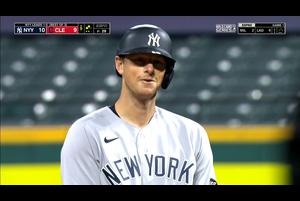 【MLB】9回表 ルメイヒューの勝ち越しタイムリーヒット 10/1 インディアンスvs.ヤンキース