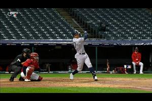 【スポーツナビMLB】<br /> 2回表、ヤンキースはスタントンにポストシーズン2号となるソロホームランが飛び出し、1点を返した。