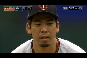 【MLB】4回表 前田健太 2死満塁のピンチを凌ぐ 9/30 ツインズvs.アストロズ