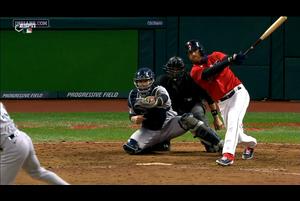 【MLB】7回裏 代打ルプロウの2点タイムリーツーベースで同点に 10/1 インディアンスvs.ヤンキース