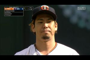 【MLB】2回表 前田健太 2つの三振を記録する 9/30 ツインズvs.アストロズ