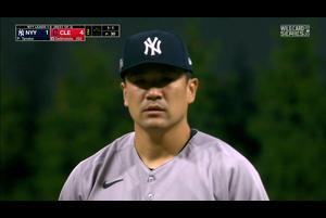 【MLB】2回裏 田中将大 この回は立ち直り三者凡退に抑える 10/1 インディアンスvs.ヤンキース