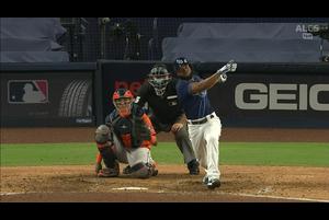 【MLB】8回裏 マルゴの2打席連続のホームラン!! 10/17 レイズvs.アストロズ