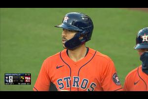 【MLB】5回表 コレアのタイムリーヒット 10/17 レイズvs.アストロズ