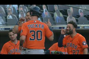 【MLB】6回表 タッカーのソロホームラン 10/17 レイズvs.アストロズ