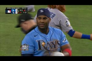 【MLB】3回裏 ディアスのタイムリースリーベース 10/26 レイズvs.ドジャース