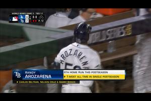 【MLB】9回裏 アロサレーナのソロホームラン 10/24 レイズvs.ドジャース