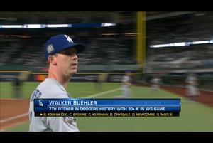 【MLB】6回裏 二桁奪三振を記録するビューラー 10/24 レイズvs.ドジャース