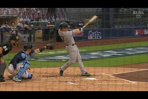 【MLB】3回表 フレイジャーの勝ち越しのソロホームラン 10/6 レイズvs.ヤンキース