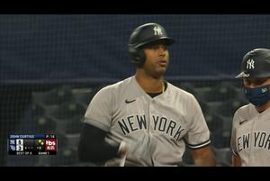 【MLB】9回表 ヒックスのタイムリーヒット 10/6 レイズvs.ヤンキース