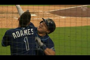 【MLB】4回裏 チェ・ジマンの逆転2ランホームラン!! 10/6 レイズvs.ヤンキース