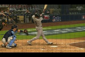 【MLB】5回表 ヒガシオカの同点ソロホームラン 10/6 レイズvs.ヤンキース