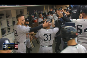 【MLB】1回表 ヒックスの犠牲フライでヤンキース先制 10/6 レイズvs.ヤンキース