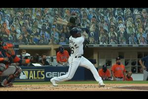 【MLB】1回裏 新人新記録となるアロサレーナの7号2ラン 10/18 レイズvs.アストロズ