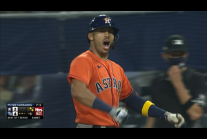 【MLB】8回表 コレアの2点タイムリーヒット 10/18 レイズvs.アストロズ