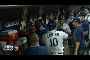 【MLB】6回裏 ズニーノの犠牲フライでレイズが1点を追加 10/18 レイズvs.アストロズ