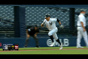 【MLB】2回裏 ルメイヒューの犠牲フライ 10/9 ヤンキースvs.レイズ
