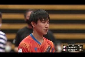 女子日本代表に一人で大量得点する丹羽孝希|2020 JAPAN オールスタードリームマッチ