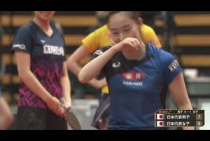 森薗政崇選手にツボる石川佳純選手|2020 JAPAN オールスタードリームマッチ