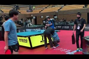 張本智和 会場練習|2020 JAPAN オールスタードリームマッチ