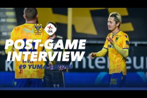 2ゴールを決め、2桁ゴールに到達したFW鈴木優磨選手の試合後インタビューです。