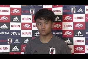 サッカー・日本代表は3日、キリンチャレンジカップ2019のパラグアイ代表戦(5日、鹿島)FIFAワールドカップカタール2022アジア2次予選のミャンマー代表戦(10日、ヤンゴン)へ向けて茨城県鹿嶋市内で合宿2日目の練習を行った。<br /> <br /> 欧州から9選手が帰国しチームに合流。練習後、久保建英選手(RCDマジョルカ/スペイン)が取材に応じた。<br /> <br /> <br /> <テレビ東京スポーツ><br /> テレビ東京が運営するスポーツメディア「テレビ東京スポーツ」にて、サッカー解説者のセルジオ越後が様々なスポーツについて語る企画。<br /> <br /> 卓球、ソフトボール、競馬、野球、サッカーなどのスポーツ情報を発信。テレビ東京独自の取材、現役選手・監督の貴重なインタビューなども随時掲載<br /> https://www.tv-tokyo.co.jp/sports/<br /> <br /> <追跡LIVE!SPORTSウォッチャー><br /> 月~金曜夜11時58分/土曜夜11時/日曜夜10時54分<br /> http://www.tv-tokyo.co.jp/sportswatcher/