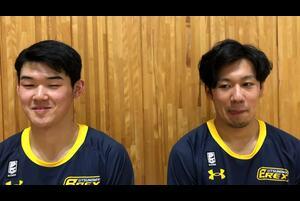 2021/01/13(水)にブレックスアリーナ宇都宮(栃木県宇都宮市)で開催された、大阪エヴェッサ戦後の#11 荒谷 裕秀選手と#42 星川 堅信選手のインタビューです。