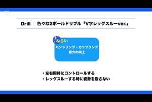 【バスケ練習メニュー】色々な2ボールドリブル「V字レッグスルーver.」