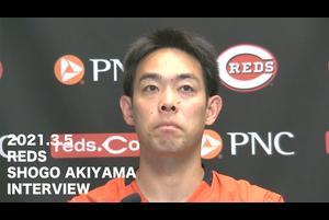 【SPOZONE MLB】<br /> 日本時間5日に行われたレッズ秋山翔吾選手の練習後インタビューの映像です。