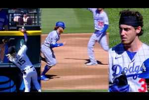 【MLB】ベリンジャーが放った打球はホームラン!! でもアウト… 4.2