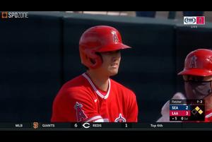 【MLB】エンゼルス 大谷翔平 第3打席はレフト前ヒット vs.マリナーズ 3.8