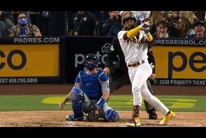 【SPOZONE MLB】<br /> 日本時間17日に行われたドジャース戦に、左肩の脱臼で欠場していたパドレスのフェルナンド・タティスJr.が復帰後初本塁打を放った。