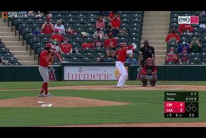 【SPOZONE MLB】<br /> 日本時間16日に行われたレッズ戦に出場したエンゼルスの大谷翔平の第3打席は空振り三振に終わる。